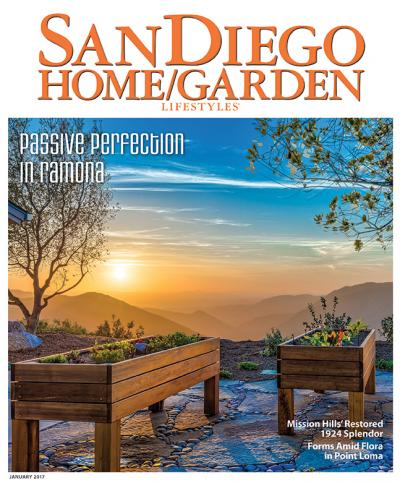 Casa Aguila on the cover of San Diego Home + Garden