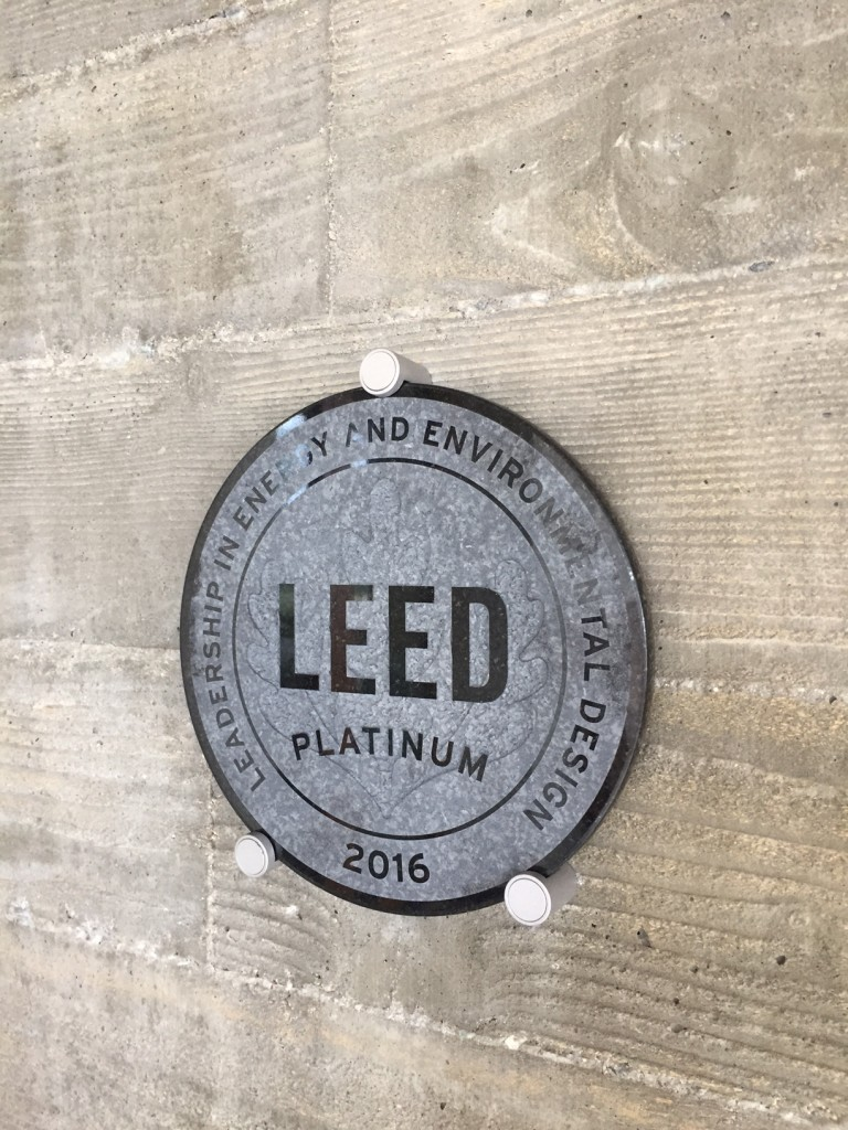 LEED Platinum plaque Casa Aguila