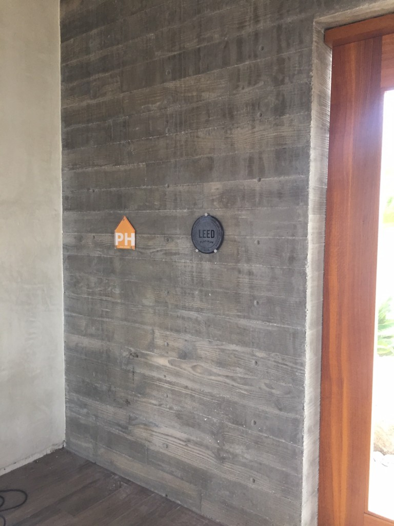 Passive House and LEED Platinum plaques at Casa Aguila
