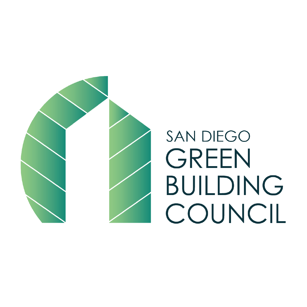 san diego green building council logo white
