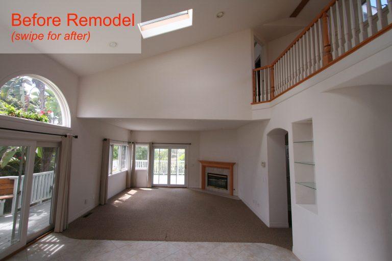 living room pre remodel